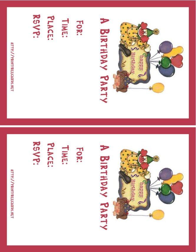 Birthday Card Invitation Maker – gangcraft.net