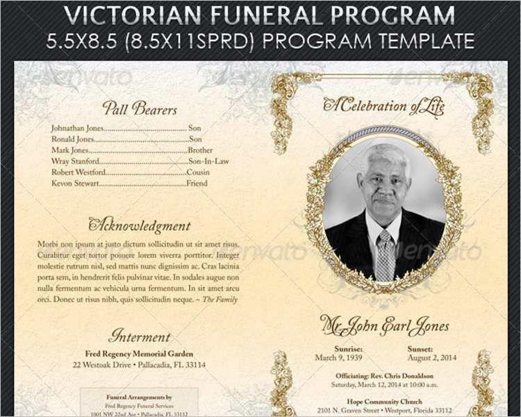 35+ Funeral Program Templates || Free & Premium Templates ...