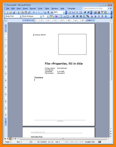 9+ technical report template microsoft word | ledger paper