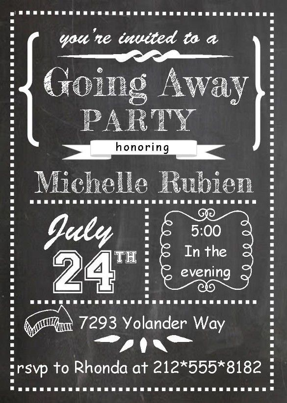 Farewell Party Invitation Template - 25+ Free PSD Format Download ...
