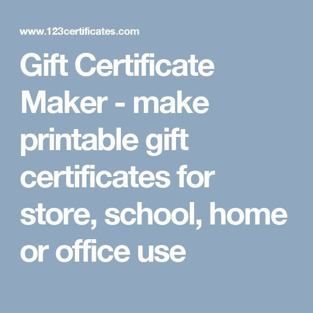 Get 20+ Gift certificate maker ideas on Pinterest without signing ...