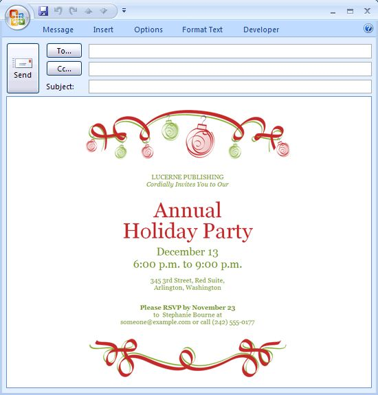 Office Holiday Party Clipart (30+)