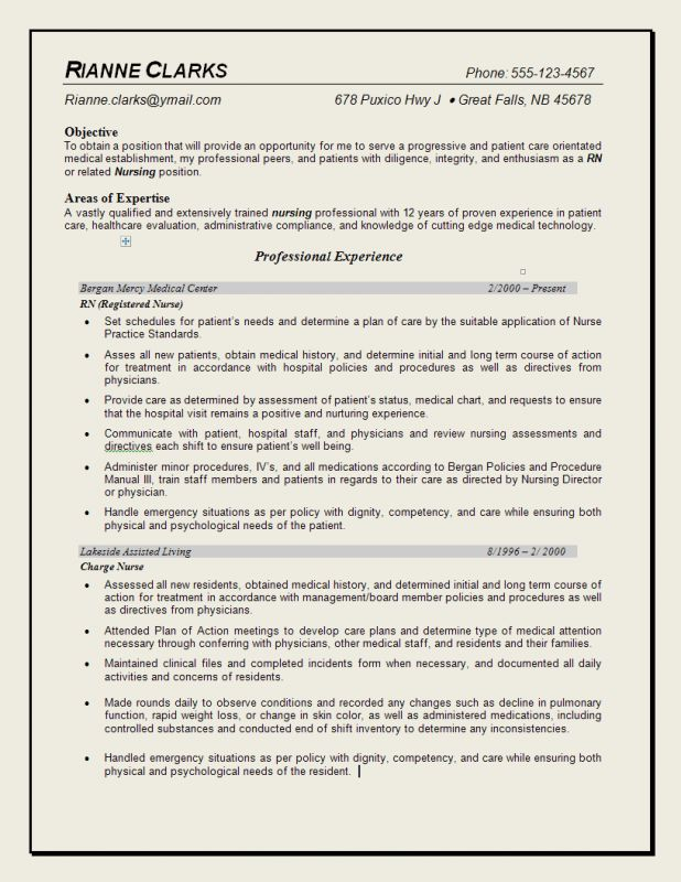 cover letter how to write a nurse resume how to write a nursing ...