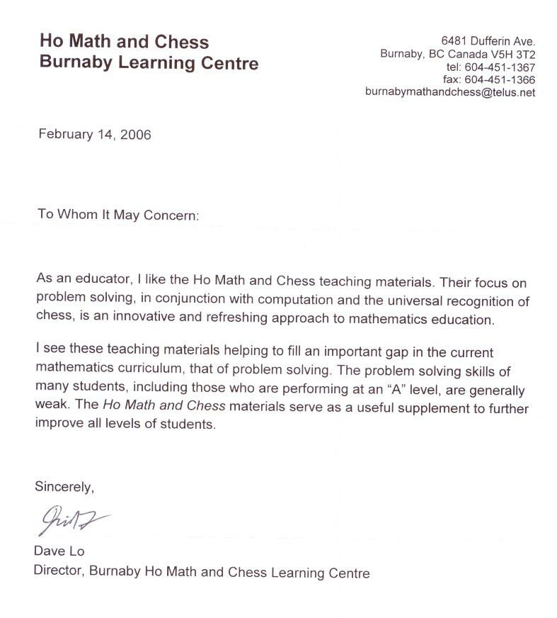 Sample Recommendation Letter For Student Exchange Program - Cover ...