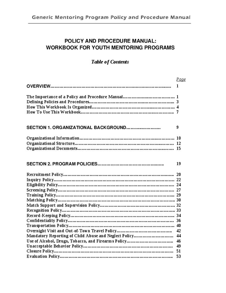 Generic Mentoring Program Policy and Procedure Template - Hashdoc