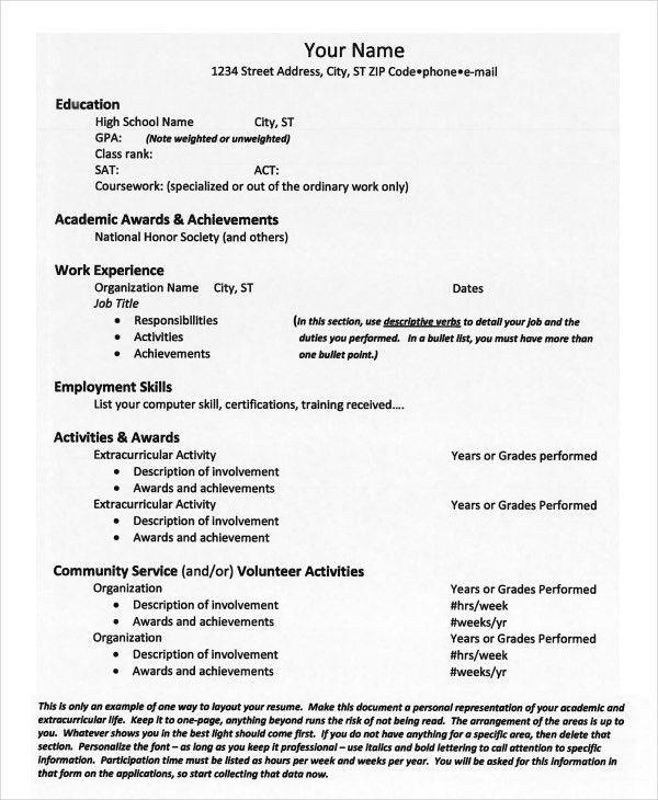 College Resume - 9+ Free Sample, Example, Format | Free & Premium ...