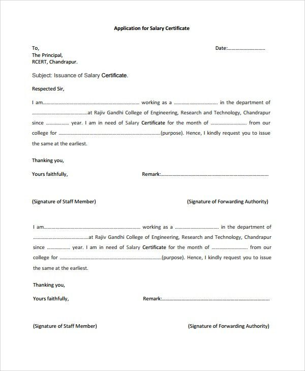 7+ Salary Certificate Examples