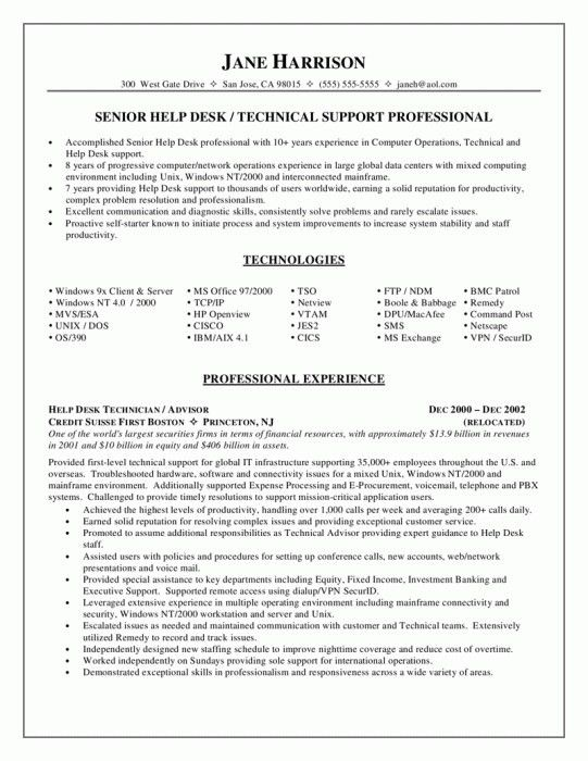 Elegant Technical Support Engineer Resume | Resume Format Web