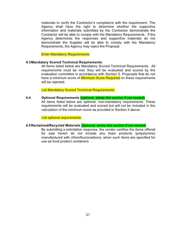 request for information rfi template. model request for proposal ...