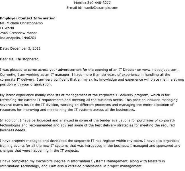 Nice Cover Letter Opening Statement 3 Sample For Job It For - CV ...
