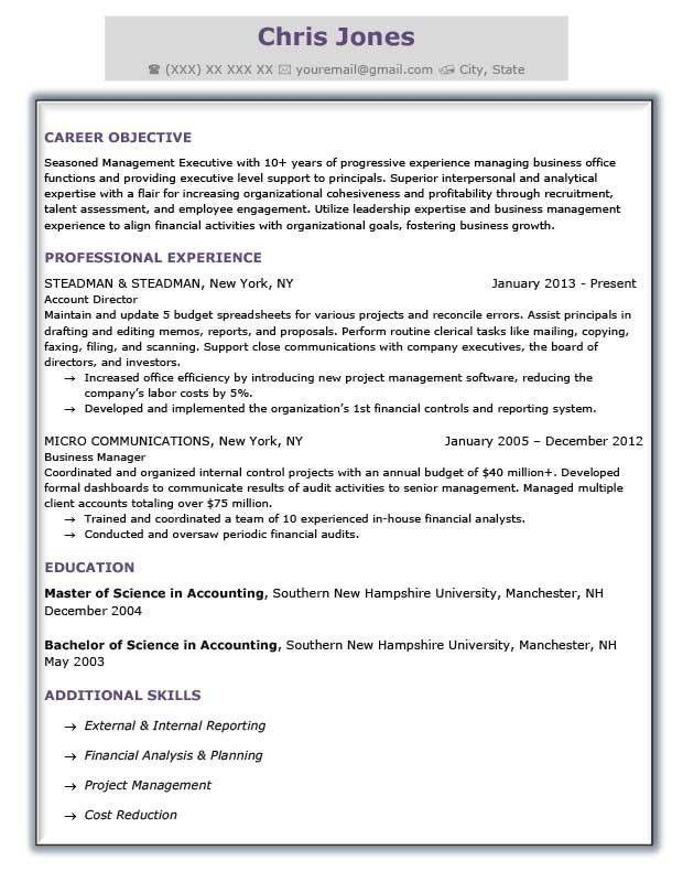 Formal Business Resume Template. formal resume template howto ...