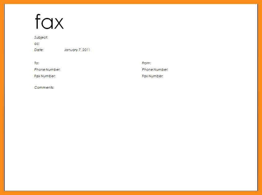 Free Fax Cover Sheet Template Free Fax Cover Sheet Template – Sample Blank Fax Cover Sheet