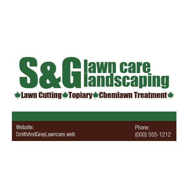 Lawn Care Business Cards: Five Customizable Templates