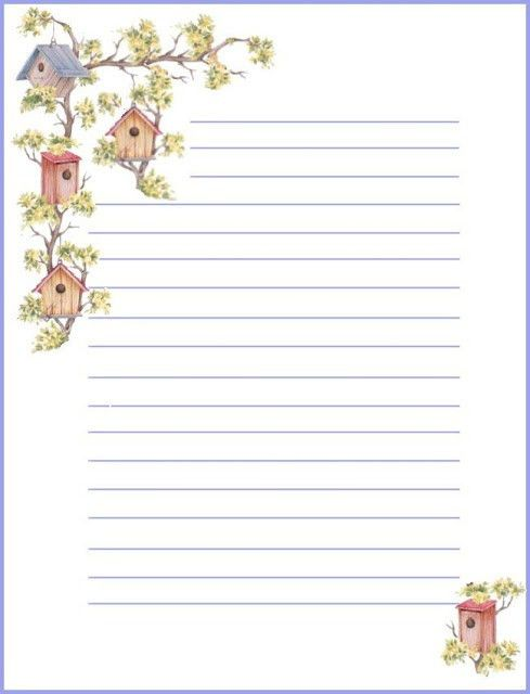 lined stationery | Stationary | Pinterest | Amor, House and Birds