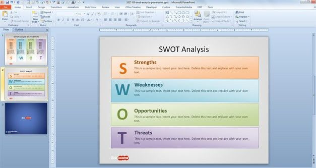 Free SWOT Template for PowerPoint - Free PowerPoint Templates ...