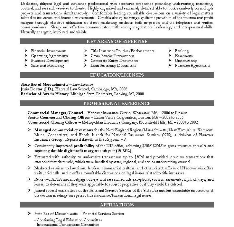 Legal Resumes [Template.billybullock.us ]
