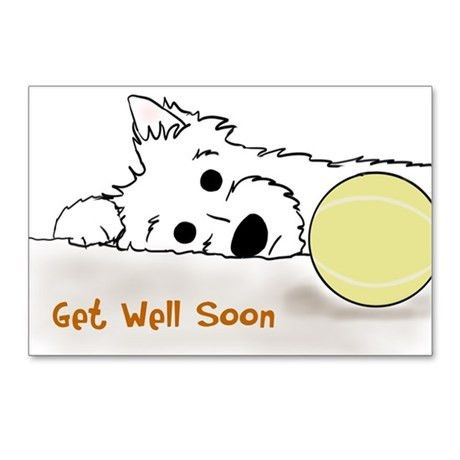 Dog Get Well Postcards | Dog Get Well Post Card Design Template