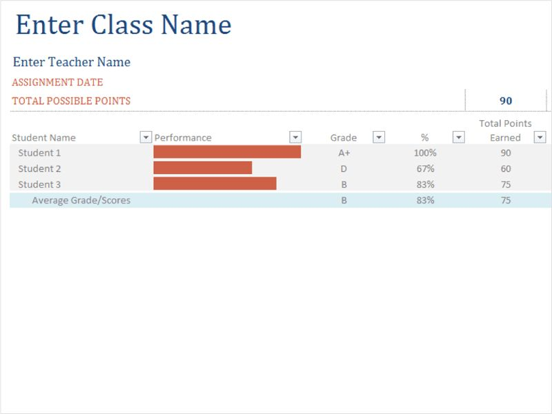 Class emergency phone list - Office Templates