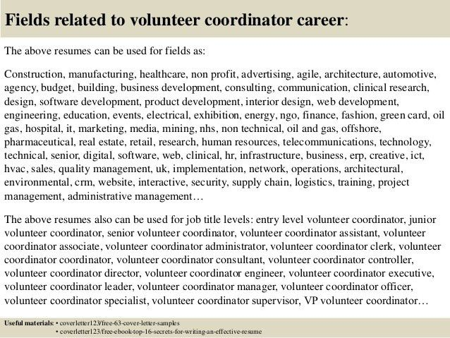 cover letter for volunteer cv template volunteer work ...
