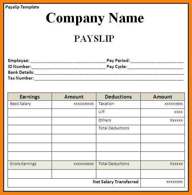 9+ sample payslip template | hr cover letter