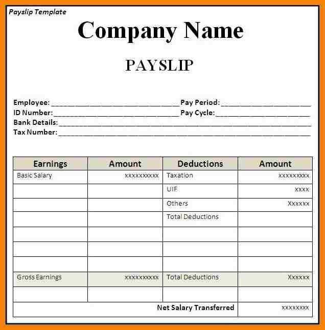 9+ sample payslip template | hr cover letter