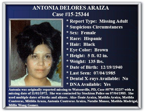 Missing Persons - City of Stockton, CA