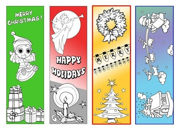 Christmas Bookmarks - printable Christmas crafts for children