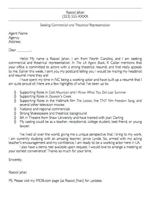 Great Cover Letter. A Great Cover Letter Example Administration ...