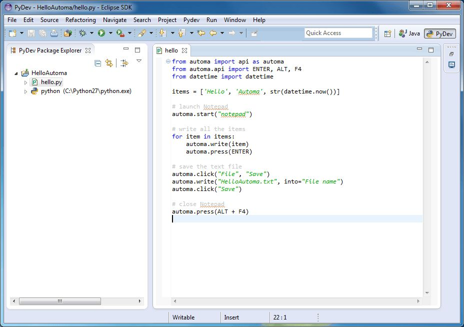 Python IDE Integration | Automa