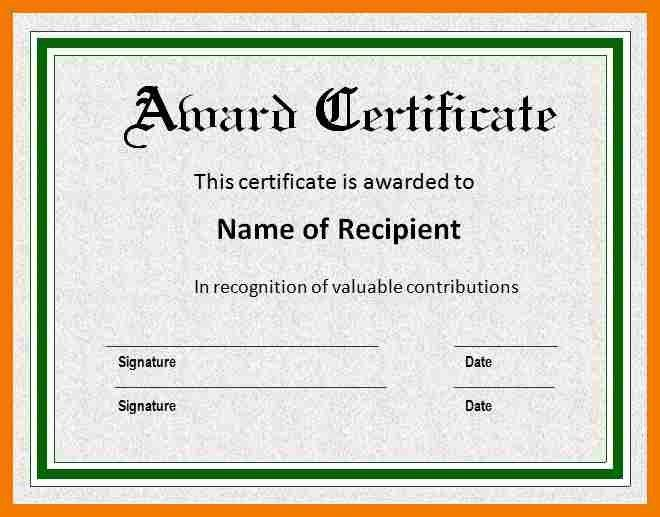 12+ awards certificate template word | mailroom clerk