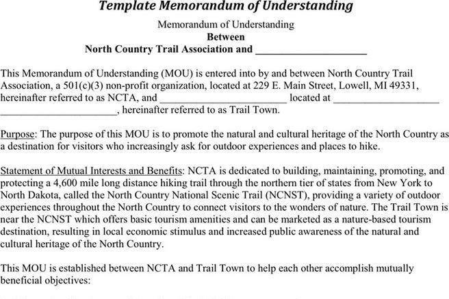 Memorandum Of Understanding Template. 8+ Simple Memorandum | Cna ...