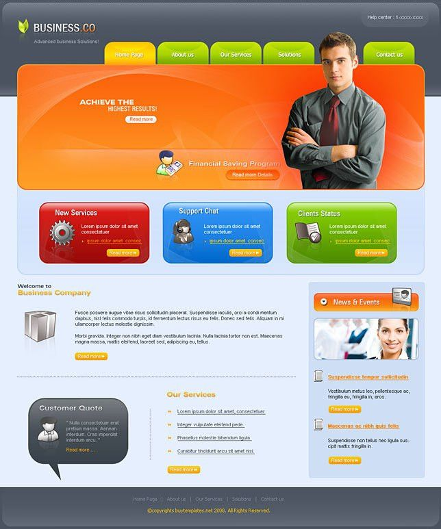 Cheap Web templates for business companies
