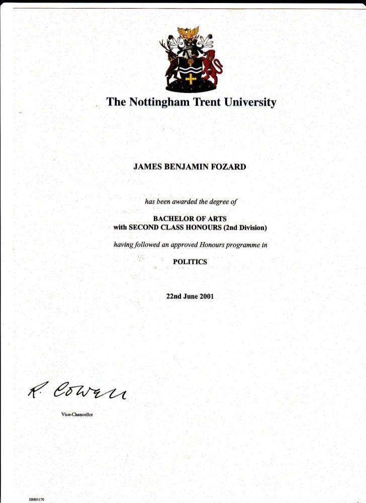 NTU Politics Degree Certificate (22.06.01)