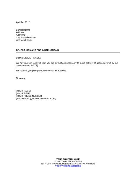 Wire Transfer Instructions Form - Template & Sample Form | Biztree.com