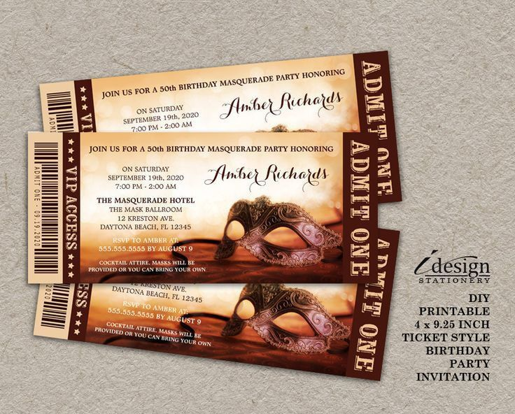 34 best Ticket Style Invitations images on Pinterest | Ticket ...