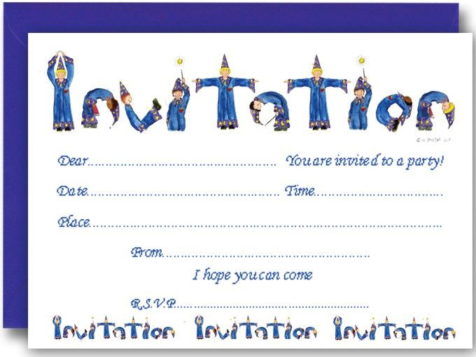 Wizard Party Invitations | Wizard Birthday Party Ideas | Wizard Party
