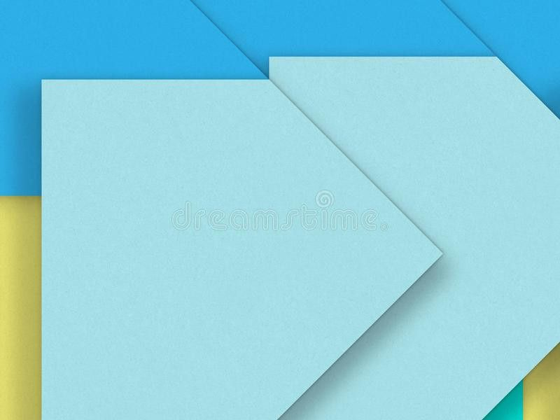 Blue Blank Paper Background Material - Design Element Stock ...