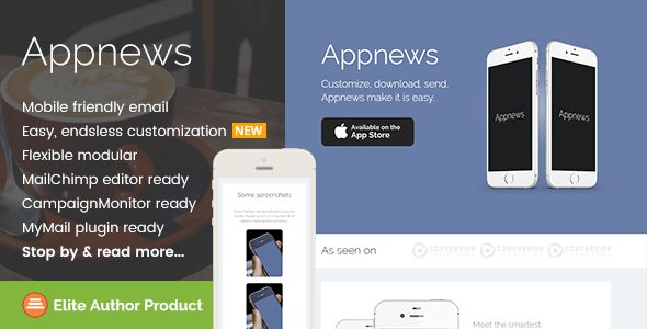 Appnews, Responsive Email Template for App Promo by saputrad ...