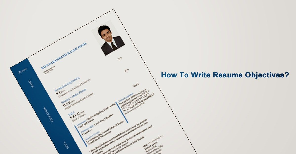 Resume Objectives for Fresher | MyCareerLog