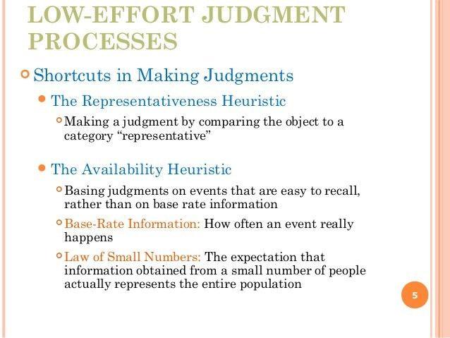 low effort judgement