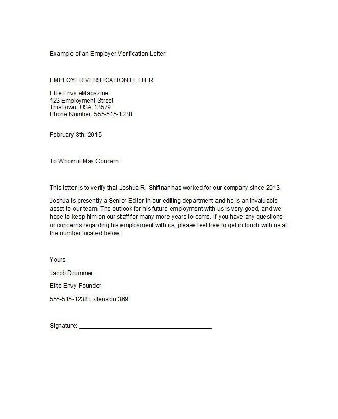 Confirmation Of Employment Letter | The Letter Sample