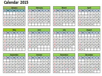 Excel Calendar Template 2015. 2014 2015 calendar free printable ...
