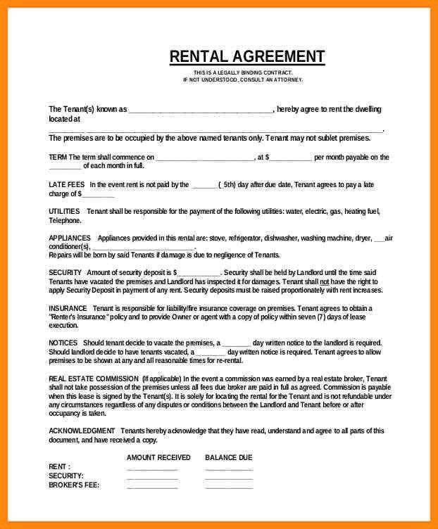 Captivating 6+ Basic Rental Agreement   Nurse Resumed
