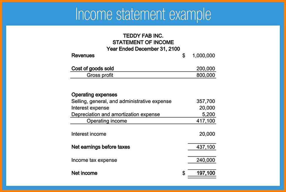 10+ accounting income statement template | Case Statement 2017