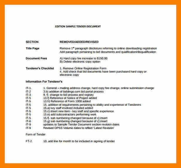 7+ tender document template | biology resume
