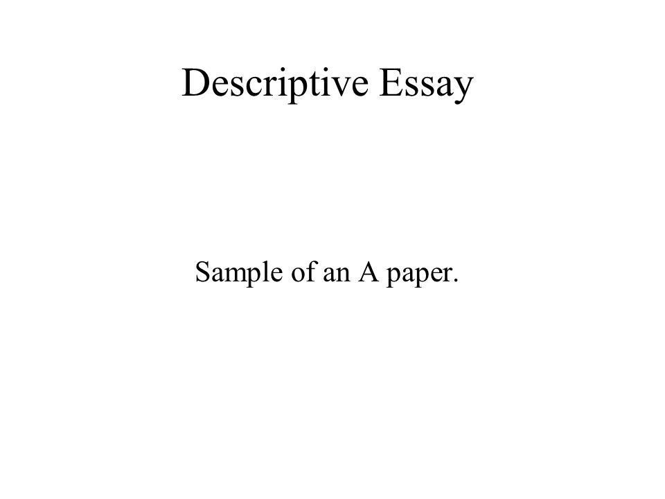 writing a descriptive essay for college students. argumentative ...