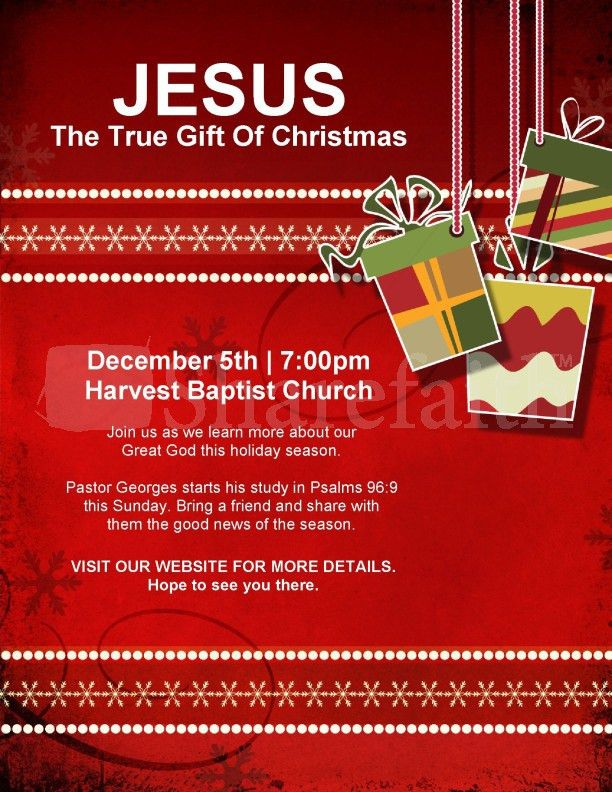 Christmas Gift Church Flyer Template | Flyer Templates