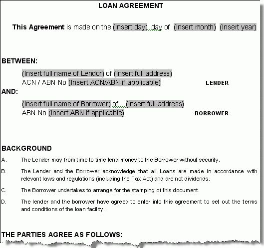 loan agreement template | NON COMPETE AGREEMENT