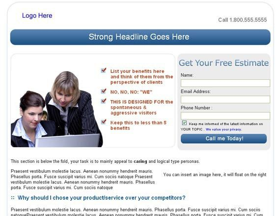 Free Landing Page Templates from InvespBlog | John Chow dot Com