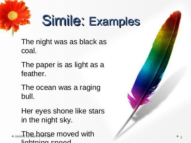 Simile metaphor1